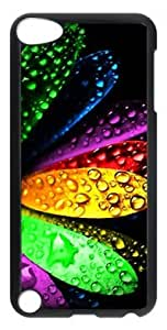 Fashion Customized Case for iPod Touch 5 Generation Black Cool Plastic Case Back Cover for iPod Touch 5th with Colorful Water Droplets
