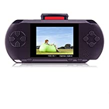 Handheld Game Console,YANX Classic 16bit Portable Video Game Console PXP Game Player With Two Cartidiges Built in 100+ Games Christmas Halloween XMAS Birthday Gifts for Boy Kids Children