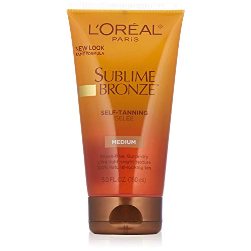 L'Oreal SUBLIME BRONZE Self-Tanning Gelee Medium-Natural 5 oz (Pack of 2)
