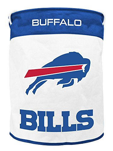 NFL Buffalo Bills Canvas Laundry Basket with Braided Rope Handles