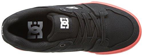 DC , Jungen Skateboardschuhe mehrfarbig schwarz/red