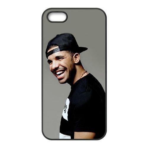 Drake 001 coque iPhone 5 5S Housse téléphone Noir de couverture de cas coque EOKXLLNCD18934