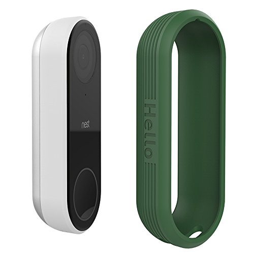 Protective Silicone Covers Colorful Skins for Nest Hello Doorbell, UV Light and Weather Resistant by AhaStyle (Green)