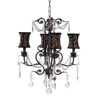 Jubilee Collection 7502-2056 4 Arm Valentino Chandelier with Petal Flower Shade, White