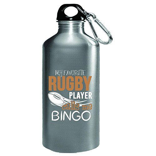 My Favorite Rugby Player Calls Me Bingo - Water Bottle by My Family Tee