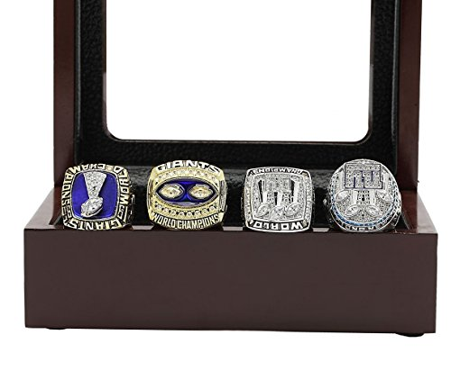 New York Giants Super Bowl Ring - Super'b Bowl Championship Rings Display Box Set - Size 11 (NY Giants, 11)