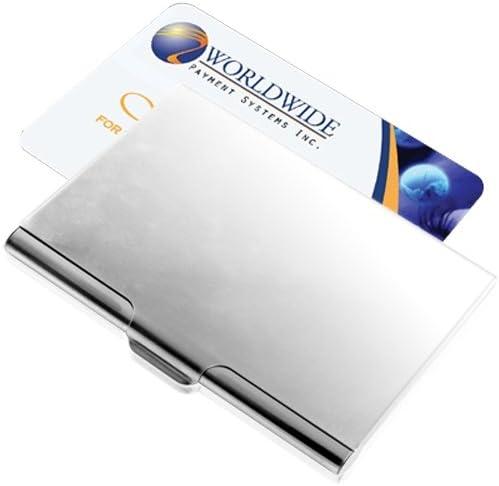 Visitenkarten Box Spender Etui Matt aus Aluminium Fein