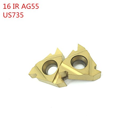 10Pcs 16IR AG55 US735 Thread Turning Tools Carbide inserts Cutting Tool CNC Tools Lathe Cutter Tools 16IRAG55 End Milling Inserts