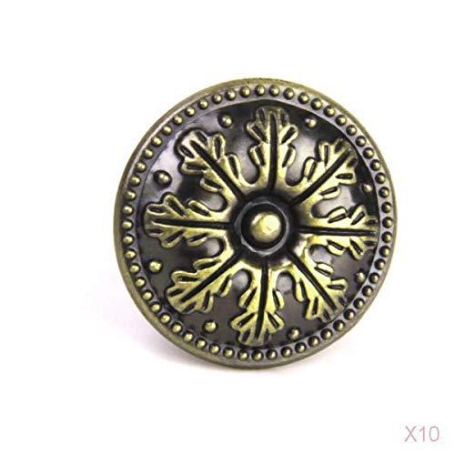 10 x Classical Round Cabinet Drawer Door Pull Handle Knob Antique Bronze