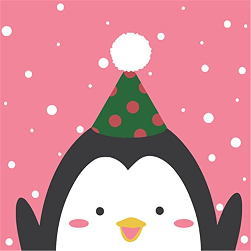 2020 Christmas Paintings - CaptainCrafts New Paint by Number Kits - Christmas Snowman Kits With Frame - Diy Painting by Numbers for Kids, As Children's Day Birthday gift (2020cm, Cartoon Snowman Penguin)