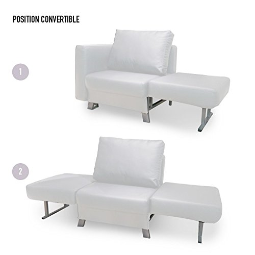 Meubler Design Convertible 1 Plaza Solo en Piel sintética ...