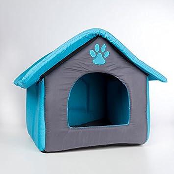 Casa de tela para animales - con cojín extraíble caseta para perro y gato color - rosa: Amazon.es: Electrónica