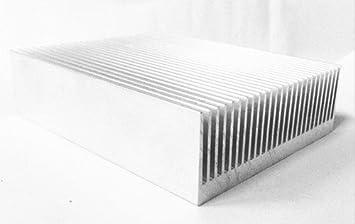 Disipador térmico de alta potencia, radiador de aluminio extrudido para disipación de calor, 80