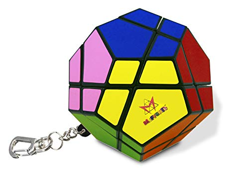 Mini SKEWB Keychain by Mefferts- Speed Cube, One-Player Games, Twisty Puzzle, Brain Teasers
