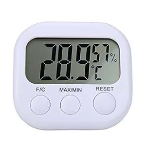 STRIR Medidor Digital de Higrómetro Termómetro LCD,Higrómetro digital del termómetro de interior con indicador de temperatura de la pantalla LCD Medidor de humedad