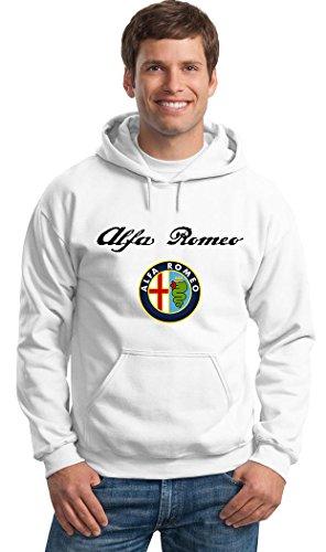 Felpa Con Cappuccio ALFA ROMEO RACING Personalizzata Bianca
