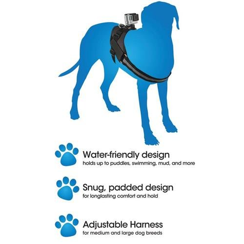Bower Xtreme Action Series Dog Harness Mount for GoPro HD HERO, HERO2, HERO3, HERO3+, HERO4, HERO, HERO+ LCD and HERO Session Action Cameras