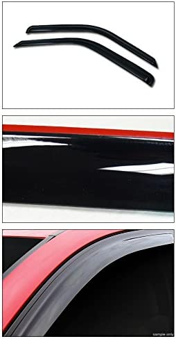 Topline Autopart Smoke Window Visors Deflector Vent Shade Guard 2 Pieces For 88-00 Chevy//GMC C10 C//K Truck SUV