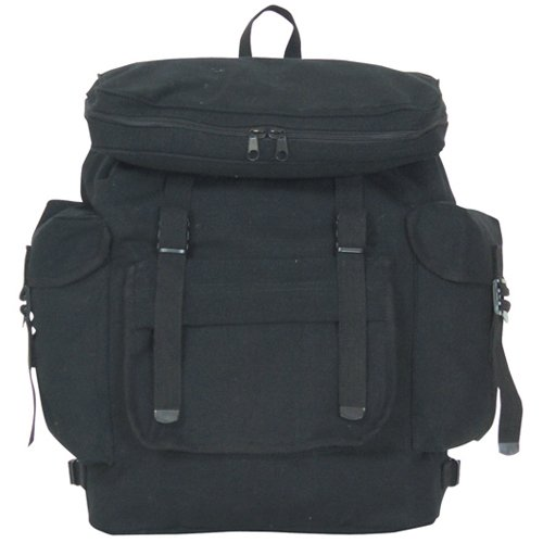 Fox Outdoor Products European Rucksack, Black, 15 X 6-Inch 42-06 BLACK