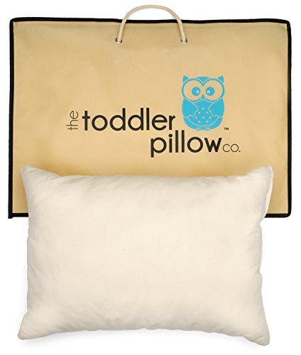 Toddler Pillow 13x 19-Inch Hypoallergenic Organic Cotton She