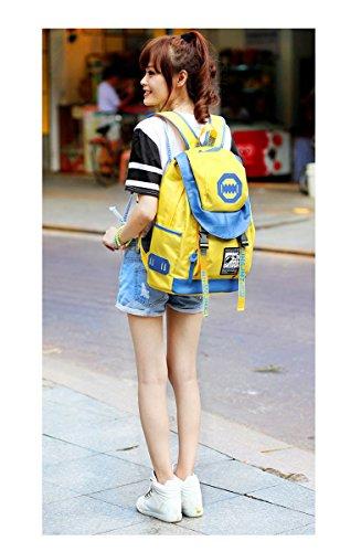 Niños Grils ligera Casual mochila mochila de viaje Escuela Bolsa Rucksuck para adolescentes, amarillo (amarillo) - AHATECH-123 amarillo