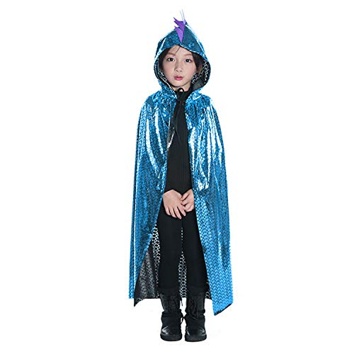 Kids Halloween Cape Dragon Hooded Robe Cloak Cosplay Fancy Dress up Costume ()