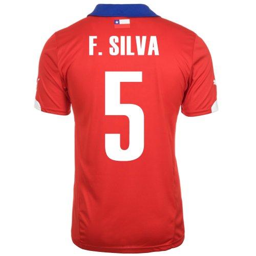 追記共和党学んだPuma F. SILVA #5 Chile Home Jersey World Cup 2014/サッカーユニフォーム チリ ホーム用 ワールドカップ2014 背番号5 フランシスコ?シルバ