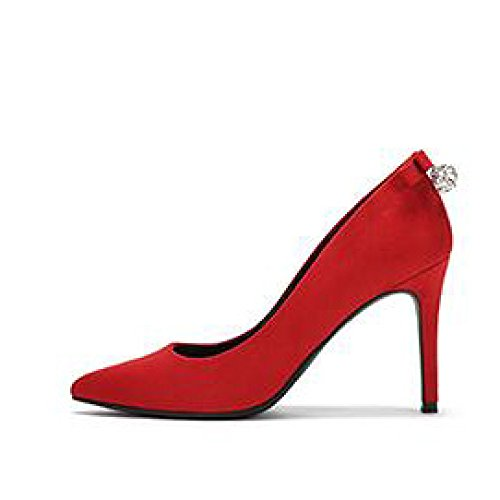 Sexy 5cm Nightclub da 5 Red Lavoro 38 Lavoro Nero Scarpe Moda Tacchi Party da Bow UK 9 EU 5 Alti Donna WeddingDaphne waOI8q