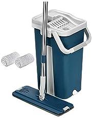 Flat Mop 360 degree and 2 mop cloth - Dark Blue