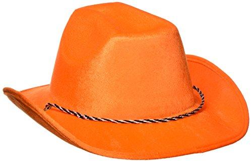 (Amscan Orange Velour Cowboy Hats, Party Accessory, 6)