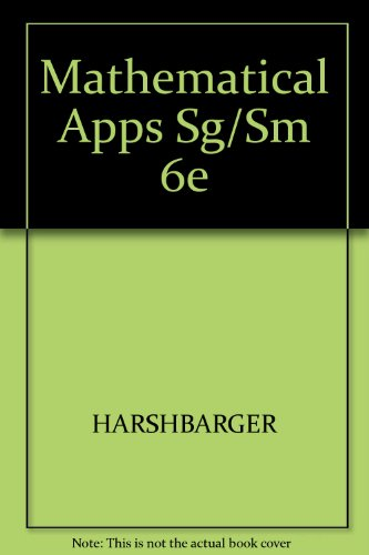 Download mathematical applications student solutions manual and download mathematical applications student solutions manual and student study guide sixth edition book pdf audio idwtmponh fandeluxe Gallery
