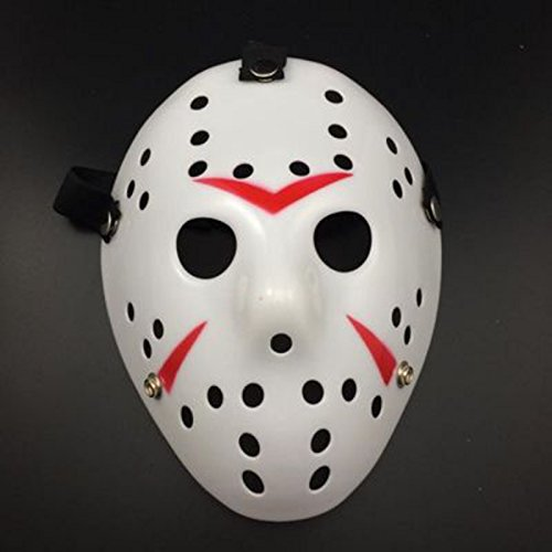 MASK PARTY - Halloween Killer Horror Party Deluxe Costume Prop Masquerade Prom Carnival Mask (Hockey Killer White & (Jeepers Creepers Halloween Costume)