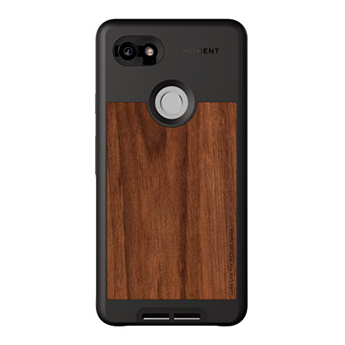 Pixel 2 XL Case || Moment Photo Case in Walnut Wood - Thin, Protective, Wrist Strap Friendly case for Camera Lovers.