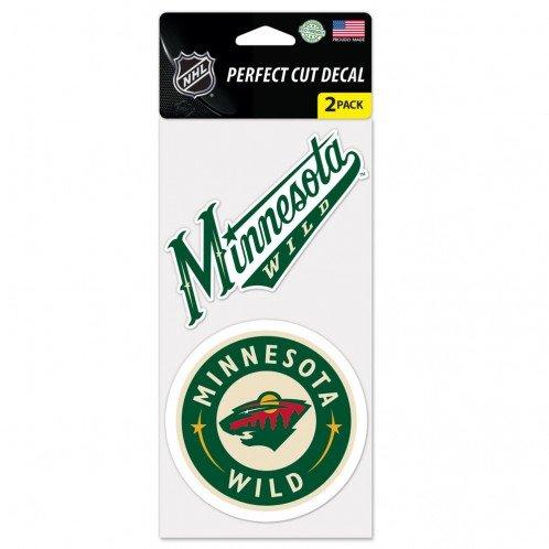 NHL Minnesota Wild 2-Piece Die-Cut Decal, 4