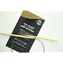 addi Natura Bamboo Circular 20-inch (50cm) Knitting Needle; Size US 08 (5.00 mm)