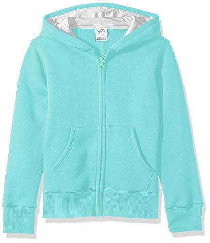 Amazon Essentials   Girls' Fleece Zip-up Hoodie, Aqua M - Blue Jackets Essential