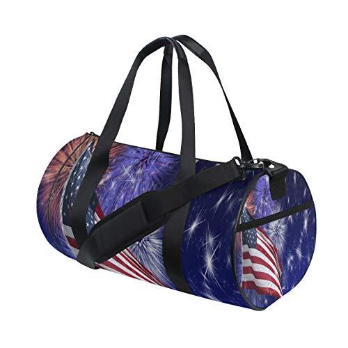 (Gym Bag Customized Independence Day Duffel Bag Sport&Travel Lightweight for Men/Women)