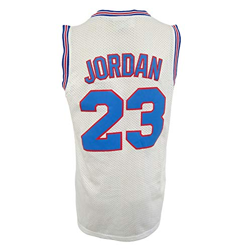OTHERCRAZY Basketball Jersey God 23 Space Jam Shirt Bunny Costume Tune Squad Jersey Basketball Jerseys for Men White ()