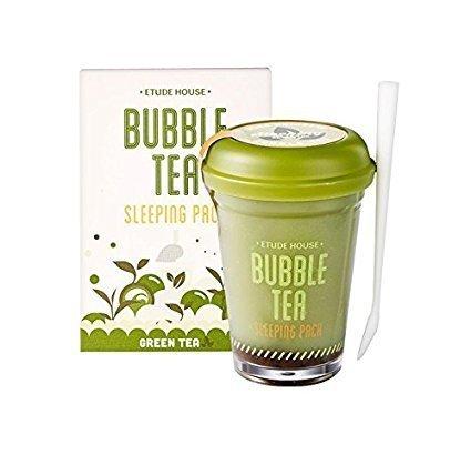 Etude House Bubble Tea Sleeping Pack (100g) (Green Tea)