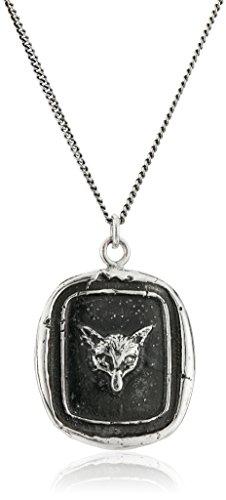 Pyrrha Unisex Fox Sterling Silver Talisman Pendant Necklace