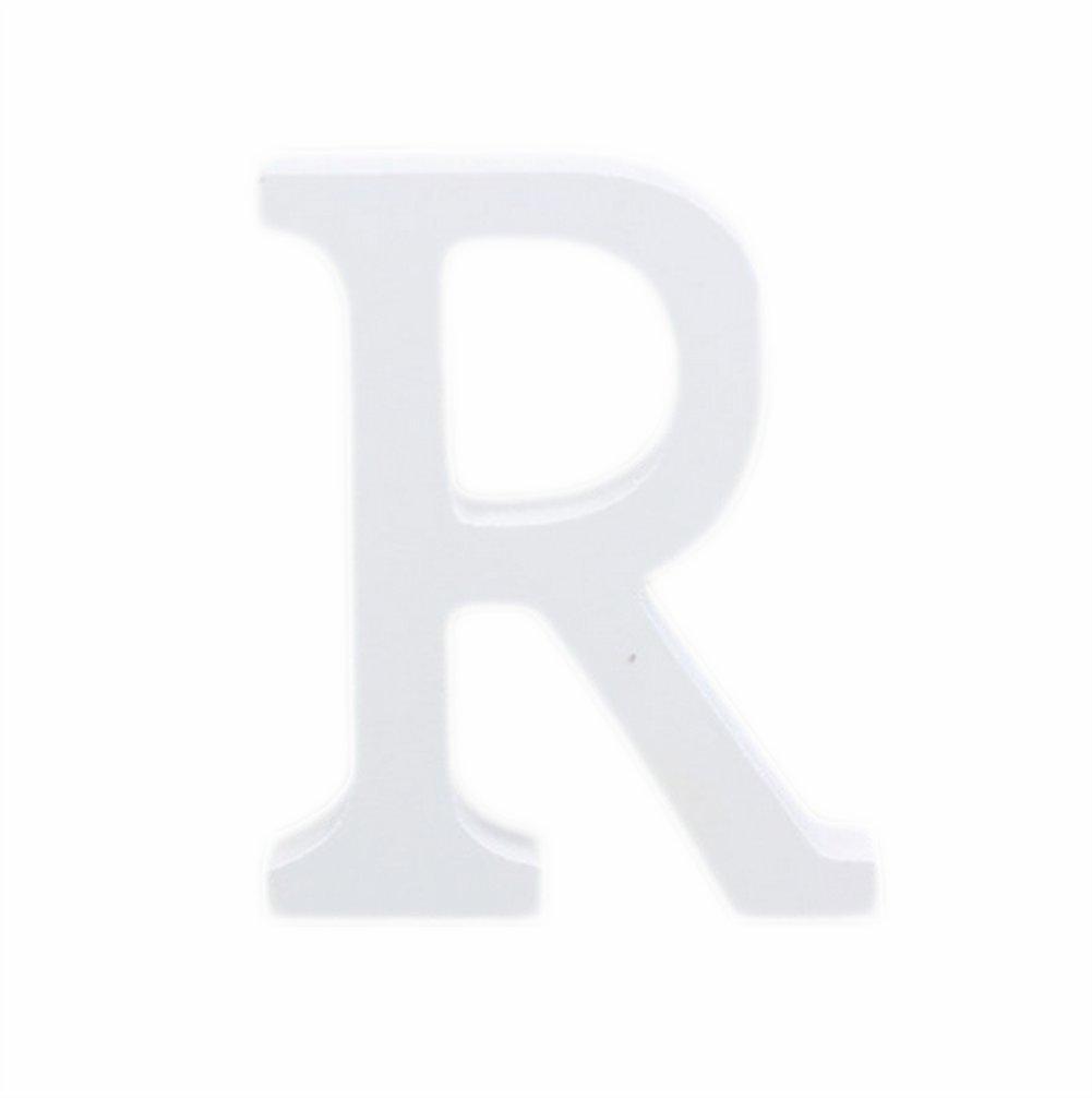 Weimay 3D bianco lettere dell alfabeto in legno altezza 8/cm fai da te per matrimonio ufficio festa di compleanno decorazioni casa R