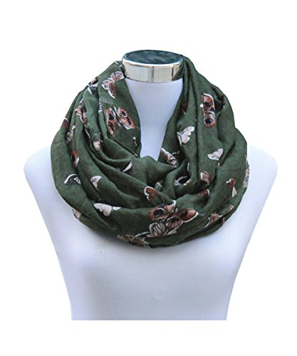 SAFERIN Soft Sheer Lightweight Infinity Scarf for Women Loop Circle Scarves