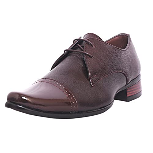 Zoom Men s Pure Leather Formal Shoes G-1875-Brown durable service ... 4f27046f0282