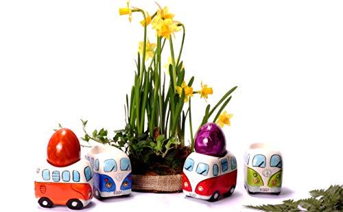 41wb3LjZwcL Camper Bus 4-TLG. Eierbecherset aus Keramik in 4