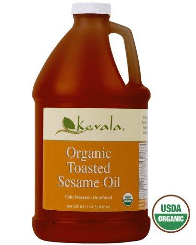 Toasted Oil (Kevala Organic Toasted Sesame Oil 64 oz (Non GMO, BPA free)