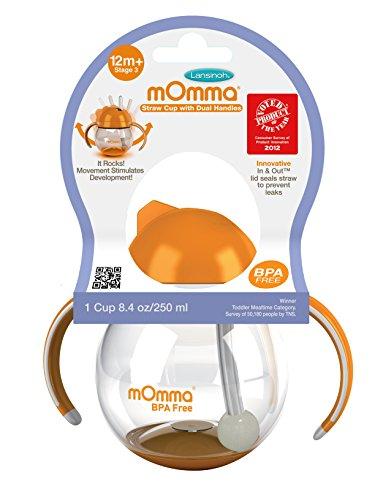 Lansinoh mOmma Straw Handles Orange product image