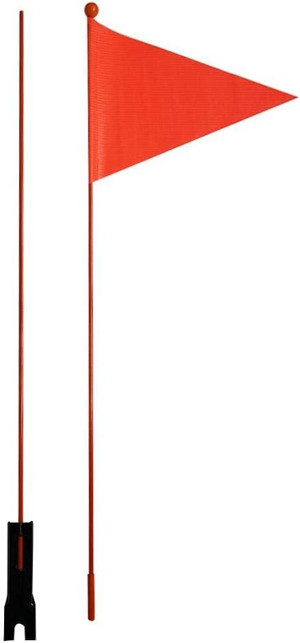 Fanion V/élo M/ât De Drapeau Drapeau Triangulaire De S/écurit/é De V/élo Avec Support De Montage Pour Gar/ço Drapeau De S/écurit/é De V/élo Drapeau Triangulaire De S/écurit/é De V/élo