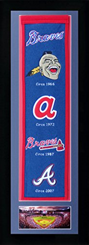 "MLB Atlanta Braves Legends Never Die Team Heritage Banner with Photo, Team Colors, 15"" x 42"""