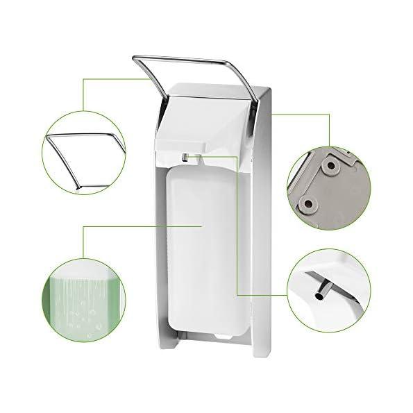 Sunsbell-Desinfektionsspender-Nachfllbarer-SeifenspenderLotionspender-aus-Aluminiumlegierung-Wandseifenlotionspumpe-Elbow-Pressure-Manuell-Eurospender-fr-Kche-Bad-1000ML-B