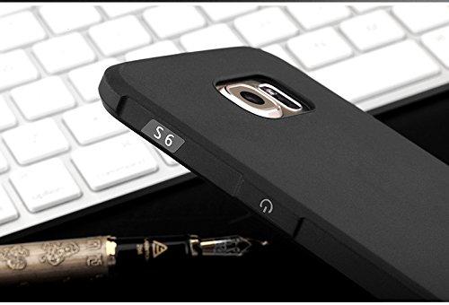 YHUISEN Cubierta antichoque del silicón de la caja TPU ultra delgada genuina de la garantía para Samsung Galaxy S6 ( Color : Black , PATTERN : Dragon Pattern ) Black